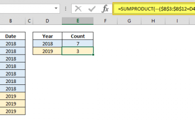 What does double minus — do in Excel