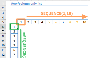 Function: SEQUENCE