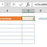 excel column number