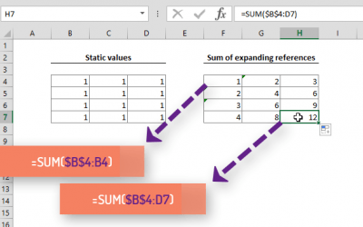 Expanding References in Excel