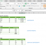 calculate percentage in Excel