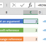 excel row function