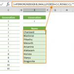 excel formula for filtering data