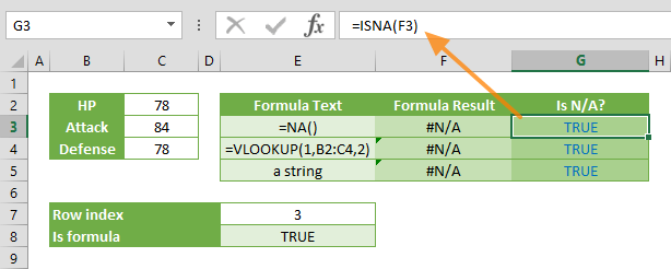 isna excel