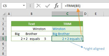 excel trim function