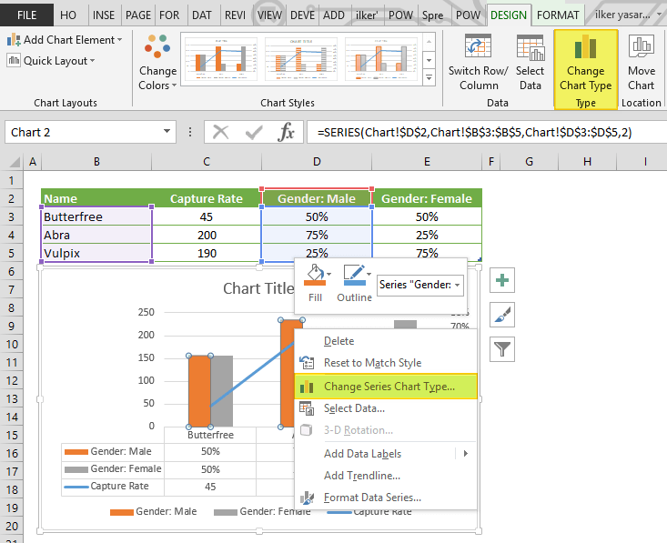 how to add a secondary axis in Excel