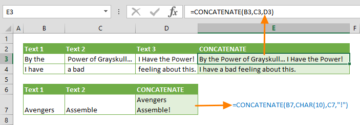 Function: CONCATENATE