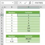 excel factorial