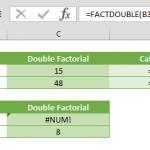 factdouble function in excel