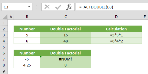 Function: FACTDOUBLE