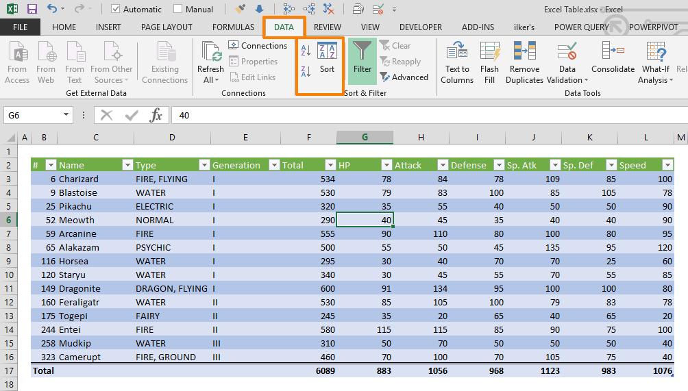 Ways To Organize Data In Excel