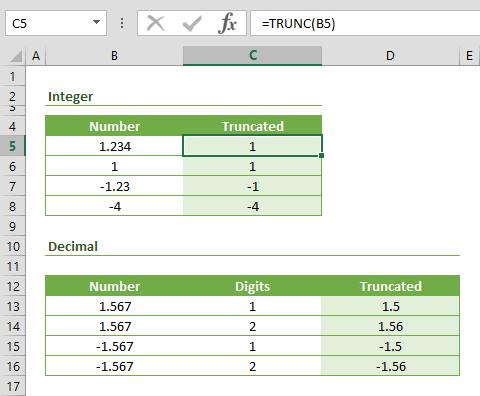Function: TRUNC
