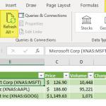 refresh stock data
