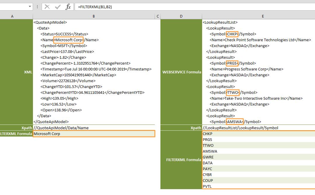 Function: FILTERXML