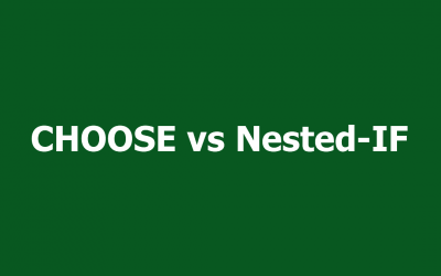 Excel Nested IF Alternative: The CHOOSE Function