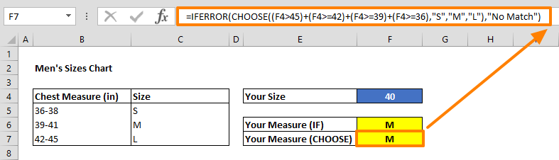 excel nested if alternative