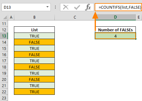 excel false