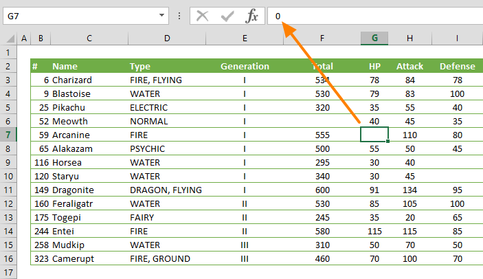 hide zeros in excel
