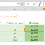 how to calculate nominal interest rate in excel