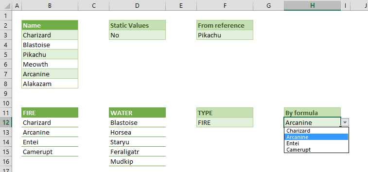 How to create dropdown lists in Excel