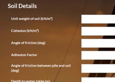 Pile Capacity Calculator