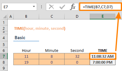 Excel TIME Function 01