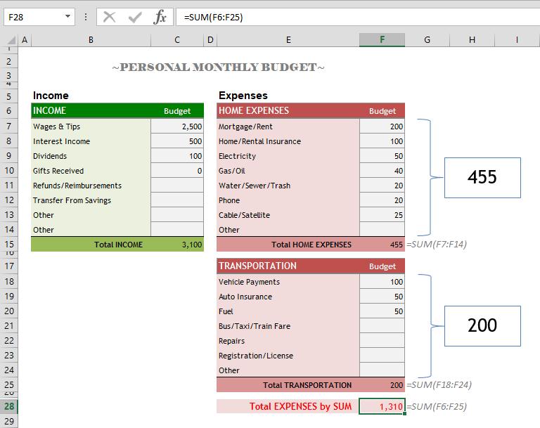 subtotal in Excel
