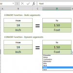 How to convert inches to feet in Excel