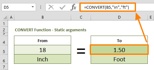 How to convert inches to feet in Excel 02