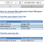 How to remove file extension from filename