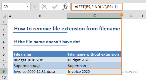How to remove file extension from filename 02