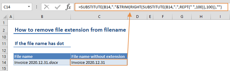 How to remove file extension from filename 03