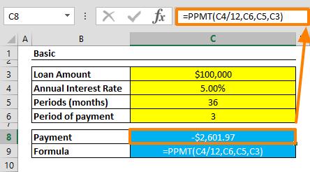 Excel PPMT Function 01