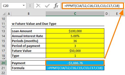 Excel PPMT Function 02