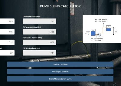 Pump Sizing Calculator