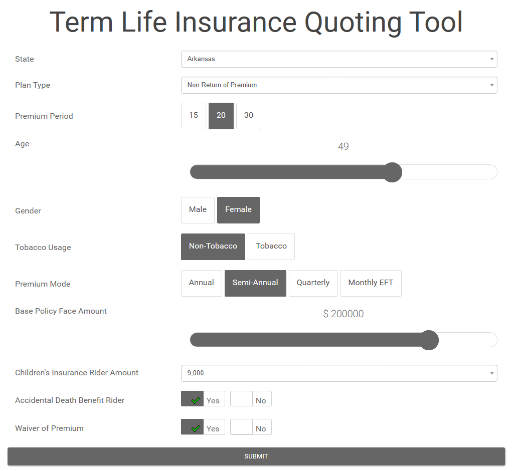 Term Life Calculator