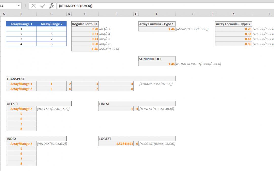 Control Shift Enter Excel Shortcut (CSE) and Array Formulas