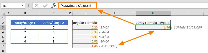 Control Shift Enter (CSE) in Excel