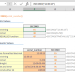 Excel SECOND Function