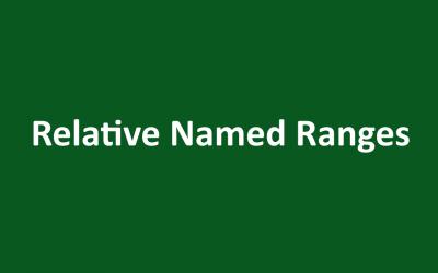 Relative Named Range in Excel