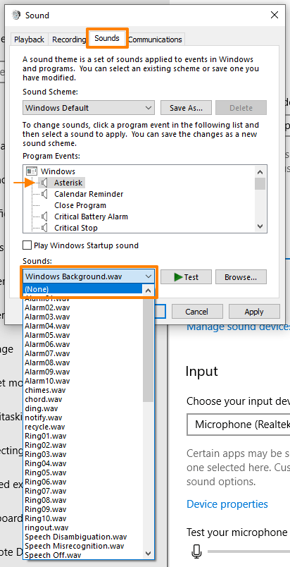 How to turn off sounds in Excel - Windows