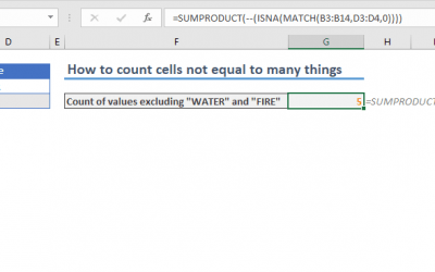 How to do a cell count if not equal to a variable or even an error code