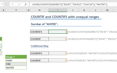 How to use COUNTIFS Excel Function with Unequal Ranges
