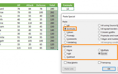 How to use Paste Special to modify formulas in Excel
