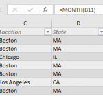 How to sort dates by month in Excel