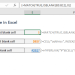 How to find the first blank cell in a range in Excel