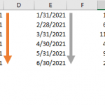 How to create a sequence of dates in Excel