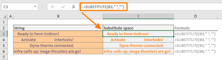 How to remove spaces in Excel 04