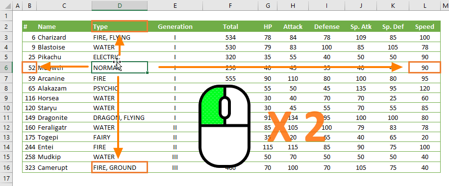 Excel Mouse Tips and Tricks 08