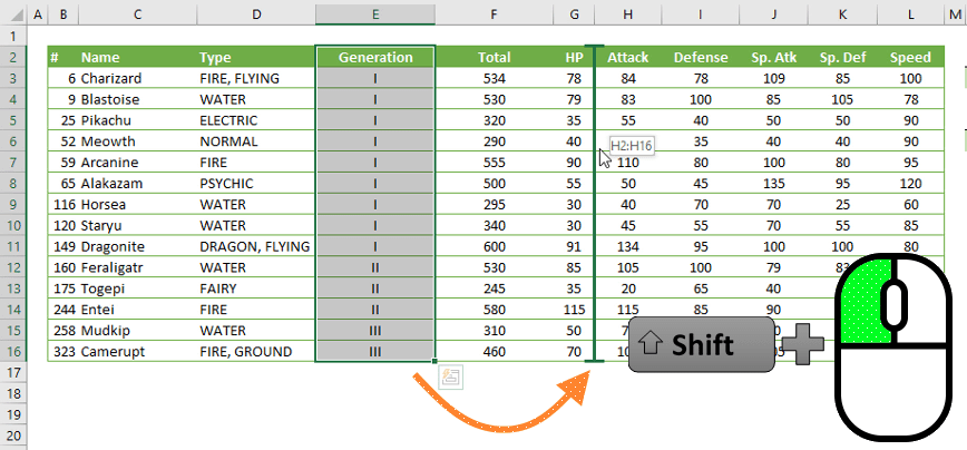 Excel Mouse Tips and Tricks 11